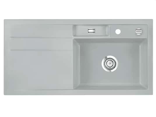 Produktabbildung Systemceram Bela 100 Titan Keramikspüle Excenterbetätigung
