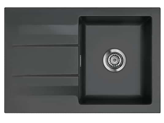 Systemceram Genea 75 Schiefer Keramikspüle Handbetätigung