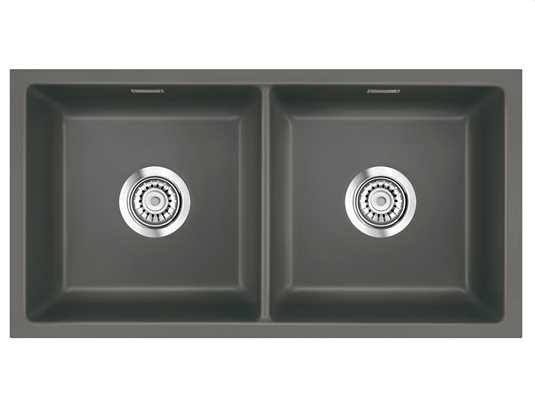 Systemceram Mera Twin U Lava Keramikspüle Handbetätigung