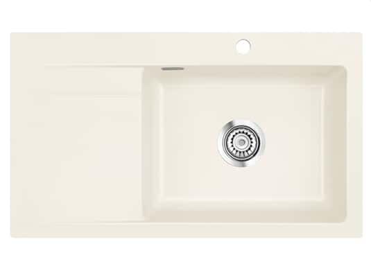 Systemceram Stema 86 SL Magnolie Keramikspüle Handbetätigung