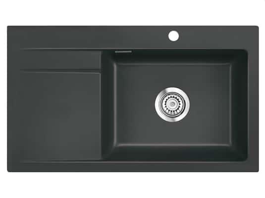 Systemceram Stema 86 SL Schiefer Keramikspüle Handbetätigung