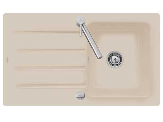 Villeroy & Boch Architectura 50 - 3350 02 AM Almond Keramikspüle Exzenterbetätigung