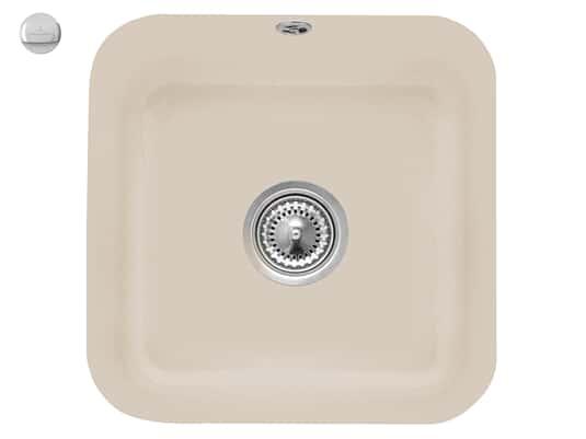 Villeroy & Boch Cisterna 50 Almond - 6703 02 AM Keramikspüle Exzenterbetätigung