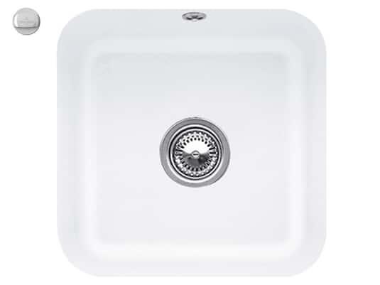 Villeroy & Boch Cisterna 50 Stone White - 6703 02 RW Keramikspüle Exzenterbetätigung