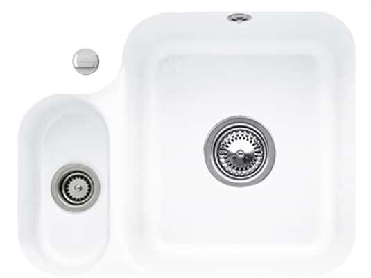 Villeroy & Boch Cisterna 60B Stone White - 6702 02 RW Keramikspüle Exzenterbetätigung
