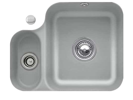 Villeroy & Boch Cisterna 60B Stone - 6702 02 SL Keramikspüle Exzenterbetätigung