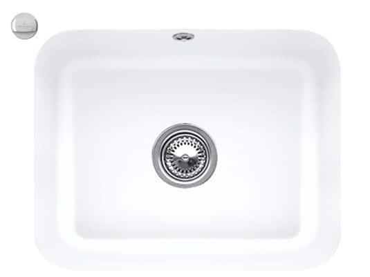 Villeroy & Boch Cisterna 60C Stone White - 6706 02 RW Keramikspüle Exzenterbetätigung