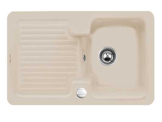 Villeroy & Boch Condor 45 Almond - 6745 02 AM Keramikspüle Exzenterbetätigung