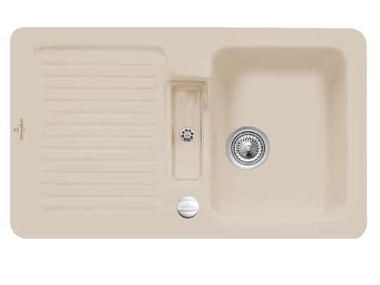 Villeroy & Boch Condor 50 Almond - 6732 02 AM Keramikspüle Exzenterbetätigung