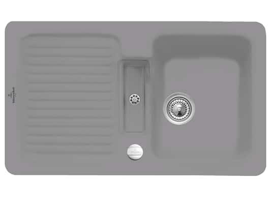 Villeroy & Boch Condor 50 Stone - 6732 02 SL Keramikspüle Exzenterbetätigung