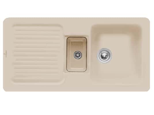 Villeroy & Boch Condor 60 Almond - 6759 01 AM Keramikspüle Handbetätigung