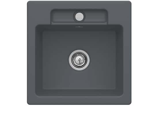 Villeroy & Boch Siluet 50 S Graphit – 3345 01 i4 Keramikspüle Handbetätigung