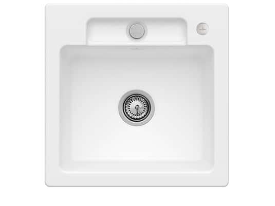 Villeroy & Boch Siluet 50 S Stone White – 3345 02 RW Keramikspüle Exzenterbetätigung