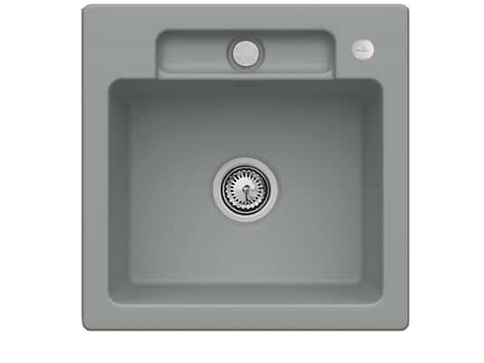 Villeroy & Boch Siluet 50 S Stone – 3345 02 SL Keramikspüle Exzenterbetätigung