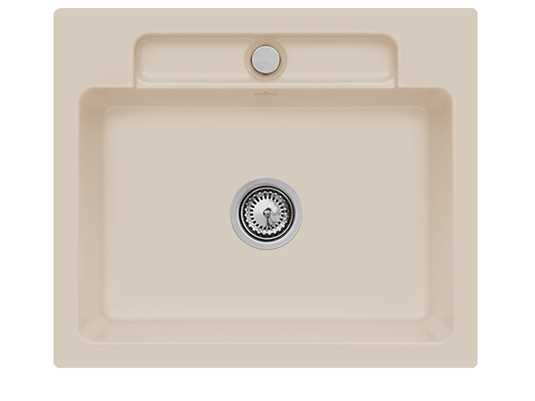Villeroy & Boch Siluet 60 S Almond – 3346 01 AM Keramikspüle Handbetätigung