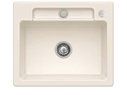 Villeroy & Boch Siluet 60 S Crema – 3346 02 KR Keramikspüle Exzenterbetätigung