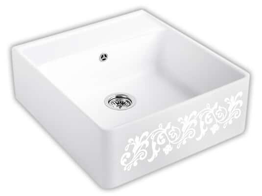 Produktabbildung Spülstein Einzelbecken mit Handbetätigung in White Pearl