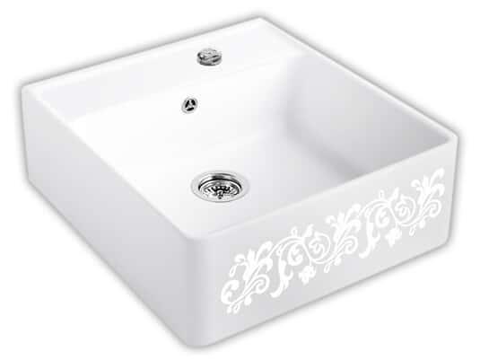 Produktabbildung Spülstein Einzelbecken mit Excenterbetätigung in White Pearl