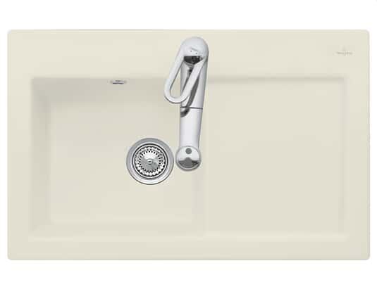 Produktabbildung Subway 45 mit Becken links und Handbetätigung in Ivory