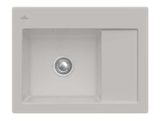 Produktabbildung Subway 45 Compact mit Becken links und Handbetätigung in Steam