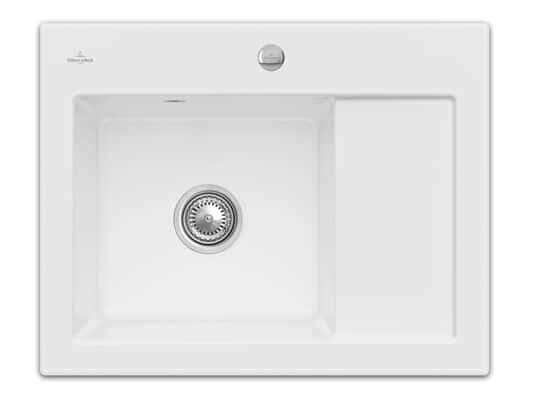 Produktabbildung Subway 45 Compact mit Becken links und Excenterbetätigung in Snow White