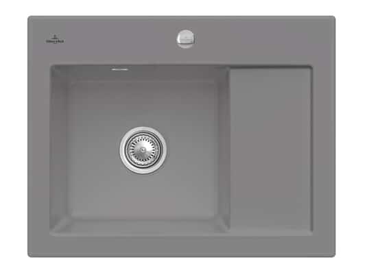 Produktabbildung Subway 45 Compact mit Becken links und Excenterbetätigung in Stone