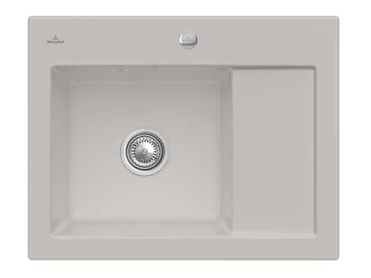 Produktabbildung Subway 45 Compact mit Becken links und Excenterbetätigung in Steam