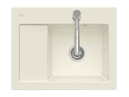 Produktabbildung Subway 45 Compact mit Becken rechts und Handbetätigung in Ivory