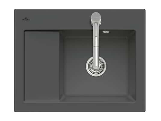 Produktabbildung Subway 45 Compact mit Becken rechts und Handbetätigung in Graphit