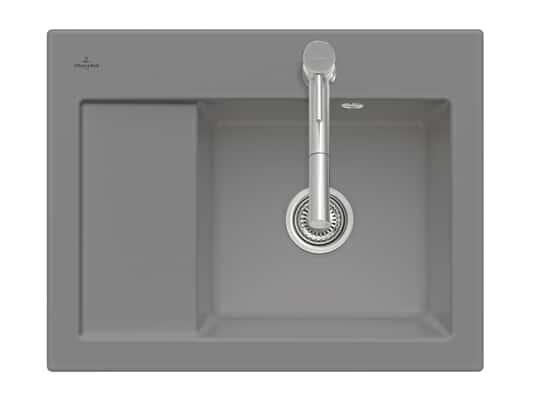 Produktabbildung Subway 45 Compact mit Becken rechts und Handbetätigung in Stone