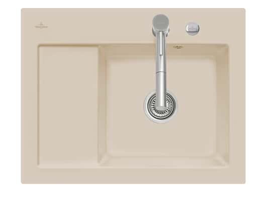 Villeroy & Boch Subway 45 Compact - 3313 02 AM Almond Keramikspüle Exzenterbetätigung