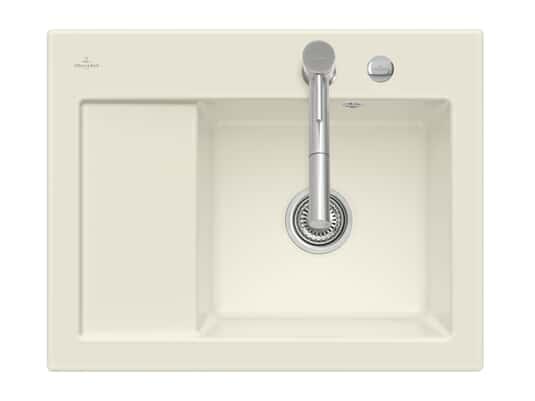 Produktabbildung Subway 45 Compact mit Becken rechts und Excenterbetätigung in Ivory
