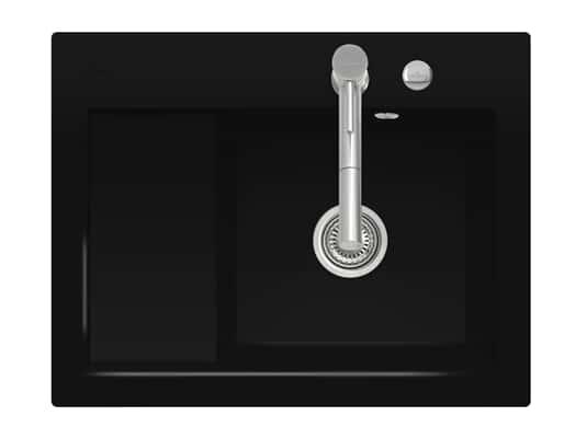 Produktabbildung Subway 45 Compact mit Becken rechts und Excenterbetätigung in Chromit