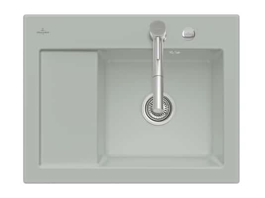 Produktabbildung Subway 45 Compact mit Becken rechts und Excenterbetätigung in Fossil