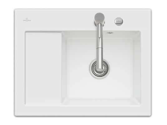 Produktabbildung Subway 45 Compact mit Becken rechts und Excenterbetätigung in Snow White