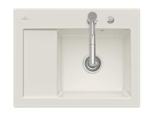 Produktabbildung Subway 45 Compact mit Becken rechts und Excenterbetätigung in Crema
