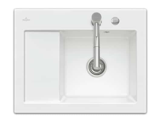 Produktabbildung Subway 45 Compact mit Becken rechts und Excenterbetätigung in Weiß (alpin)