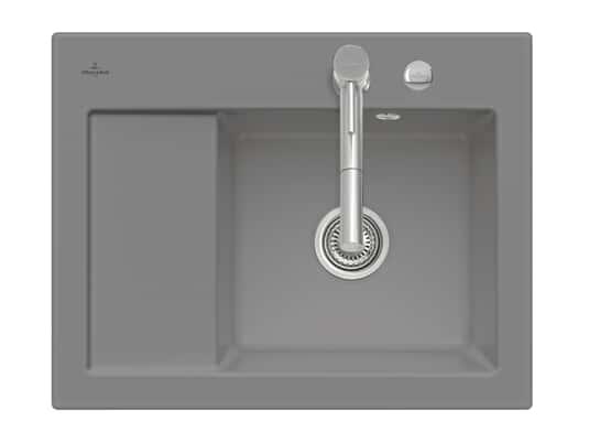 Produktabbildung Subway 45 Compact mit Becken rechts und Excenterbetätigung in Stone