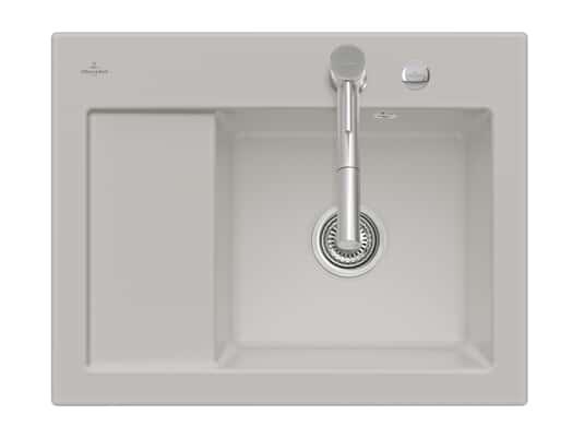 Produktabbildung Subway 45 Compact mit Becken rechts und Excenterbetätigung in Steam