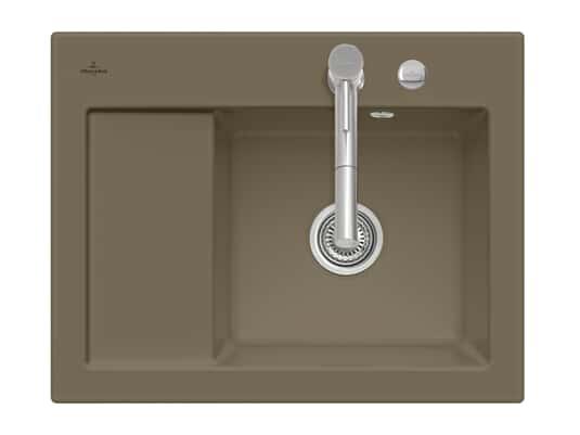 Produktabbildung Subway 45 Compact mit Becken rechts und Excenterbetätigung in Timber