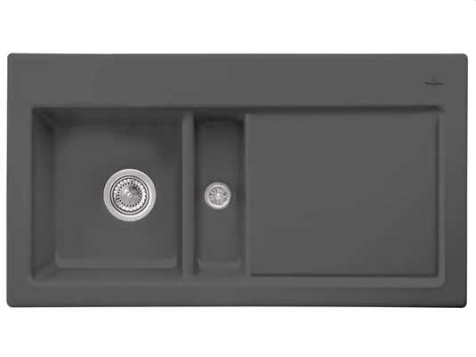 Produktabbildung Subway 50 mit Becken links und Handbetätigung in Graphit