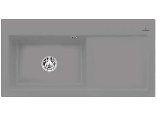 Villeroy & Boch Subway 60 XL Stone - 6718 01 SL Keramikspüle Handbetätigung