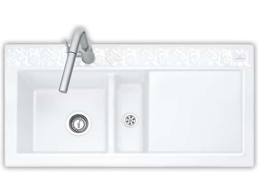 Produktabbildung Subway 60 mit Becken links und Handbetätigung in White Pearl