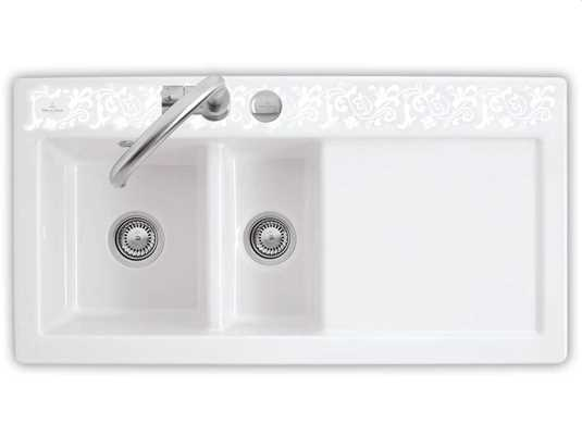 Produktabbildung Subway 60 XR mit Becken links und Excenterbetätigung in White Pearl