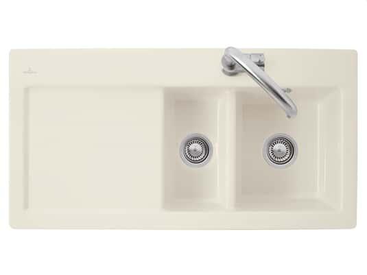 Produktabbildung Subway 60 XR mit Becken rechts und Handbetätigung in Ivory