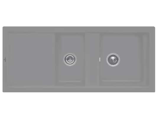 Villeroy & Boch Subway 80 Stone - 6726 01 SL Keramikspüle Handbetätigung
