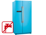 Gorenje NRS 9182 BBL Side by Side Kühl-Gefrier-Kombination Baby Blue