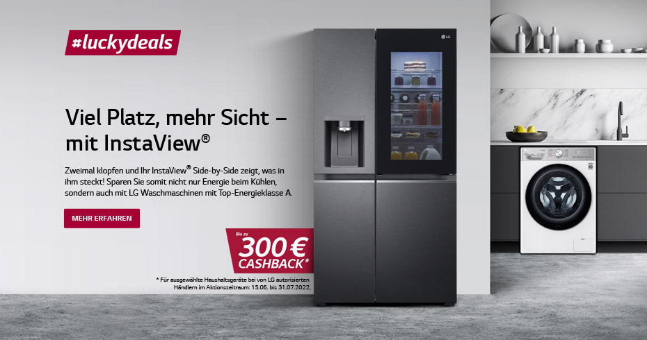 LG #luckydeals Cashback Aktion 15.03.21 - 30.04.21