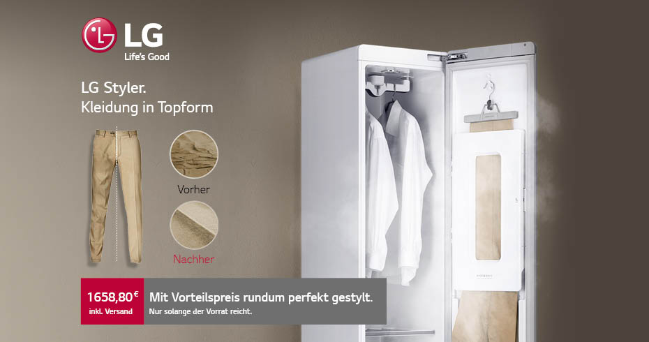 LG Electronics Styler - Der innovative Dampfschrank