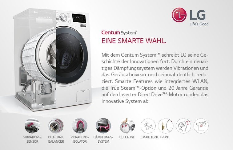LG Electronics Waschmaschine mit innovativen Features